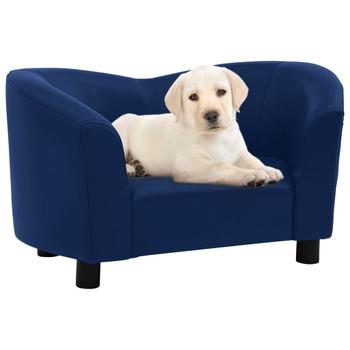 vidaXL Sofa za pse plava 67 x 41 x 39 cm od umjetne kože