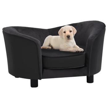 vidaXL Sofa za pse crna 69 x 49 x 40 cm od pliša i umjetne kože