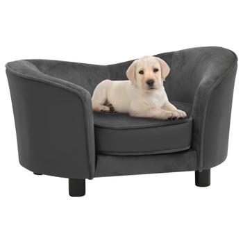 vidaXL Sofa za pse tamnosiva 69 x 49 x 40 cm od pliša i umjetne kože