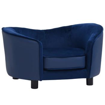vidaXL Sofa za pse plava 69 x 49 x 40 cm od pliša i umjetne kože