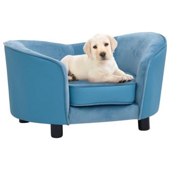 vidaXL Sofa za pse tirkizna 69 x 49 x 40 cm od pliša i umjetne kože