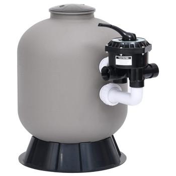 vidaXL Pješčani filtar za bazen s bočnim ventilom sa 6 položaja sivi