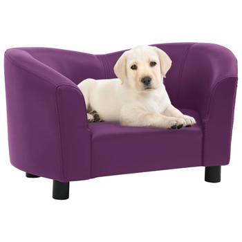 vidaXL Sofa za pse bordo 67 x 41 x 39 cm od umjetne kože