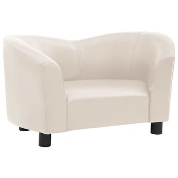 vidaXL Sofa za pse krem 67 x 41 x 39 cm od umjetne kože