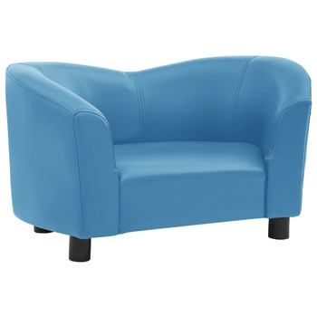 vidaXL Sofa za pse tirkizna 67 x 41 x 39 cm od umjetne kože