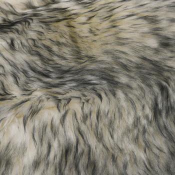 vidaXL Tepih od ovčje kože 60 x 90 cm tamnosivi prošarani