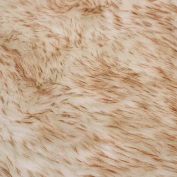 vidaXL Tepih od umjetne ovčje kože 60 x 90 cm smeđi prošarani