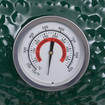 vidaXL 2-u-1 roštilj s pušnicom Kamado keramički 56 cm zeleni
