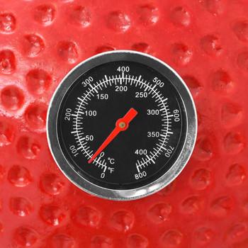 vidaXL Kamado roštilj s pušnicom keramički 76 cm