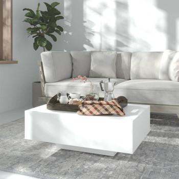 vidaXL Stolić za kavu bijeli 85 x 55 x 31 cm od iverice