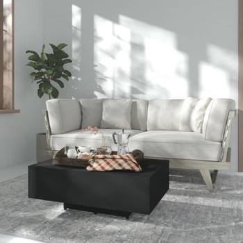 vidaXL Stolić za kavu crni 85 x 55 x 31 cm od iverice