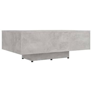 vidaXL Stolić za kavu siva boja betona 85 x 55 x 31 cm od iverice
