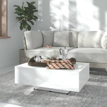 vidaXL Stolić za kavu visoki sjaj bijeli 85 x 55 x 31 cm od iverice