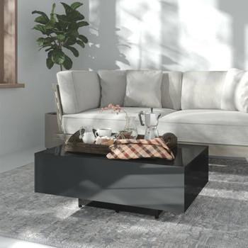 vidaXL Stolić za kavu visoki sjaj crni 85 x 55 x 31 cm od iverice