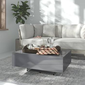 vidaXL Stolić za kavu visoki sjaj sivi 85 x 55 x 31 cm od iverice
