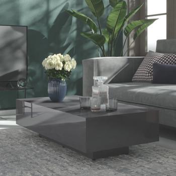 vidaXL Stolić za kavu visoki sjaj sivi 115 x 60 x 31 cm od iverice