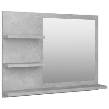 vidaXL Kupaonsko ogledalo siva boja betona 60 x 10,5 x 45 cm iverica