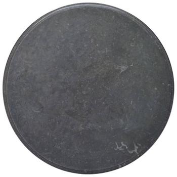 vidaXL Stolna ploča crna Ø 70 x 2,5 cm mramorna