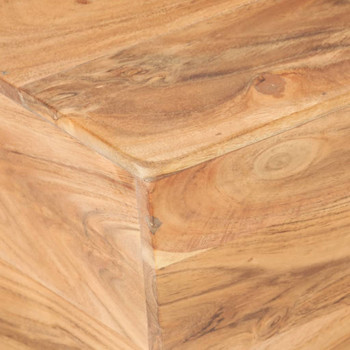 vidaXL Stolić za kavu V-oblika 66 x 66 x 30 cm masivno bagremovo drvo