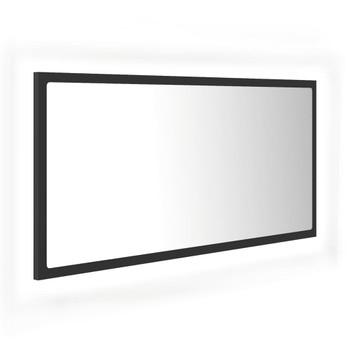 vidaXL LED kupaonsko ogledalo sivo 90 x 8,5 x 37 cm od iverice
