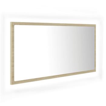 vidaXL LED kupaonsko ogledalo boja hrasta sonome 90x8,5x37 cm iverica