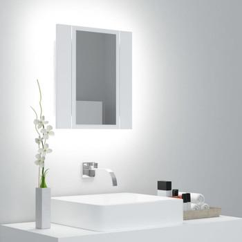 vidaXL LED kupaonski ormarić s ogledalom bijeli 40 x 12 x 45 cm