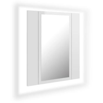 vidaXL LED kupaonski ormarić s ogledalom sjajni bijeli 40 x 12 x 45 cm
