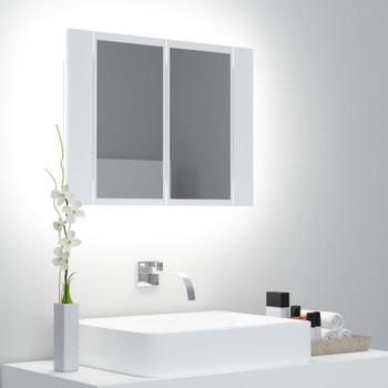 vidaXL LED kupaonski ormarić s ogledalom bijeli 60 x 12 x 45 cm