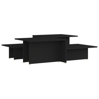 vidaXL Stolići za kavu 2 kom crni 111,5 x 50 x 33 cm od iverice