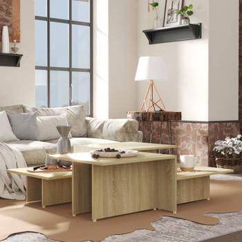 vidaXL Stolići za kavu 2 kom boja hrasta 111,5 x 50 x 33 cm od iverice