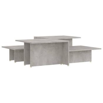 vidaXL Stolići za kavu 2 kom siva boja betona 111,5x50x33 cm iverica
