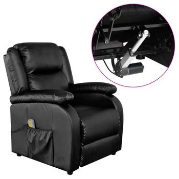 vidaXL Električna masažna fotelja od umjetne kože crna