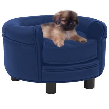 vidaXL Sofa za pse plava 48 x 48 x 32 cm od pliša i umjetne kože