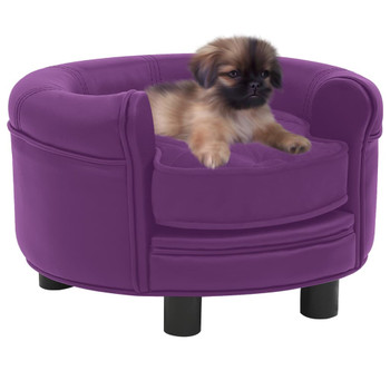 vidaXL Sofa za pse bordo 48 x 48 x 32 cm od pliša i umjetne kože