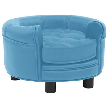vidaXL Sofa za pse tirkizna 48 x 48 x 32 cm od pliša i umjetne kože