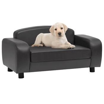 vidaXL Sofa za pse tamnosiva 80 x 50 x 40 cm od umjetne kože