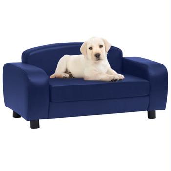 vidaXL Sofa za pse plava 80 x 50 x 40 cm od umjetne kože