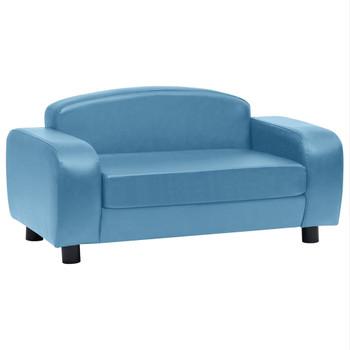 vidaXL Sofa za pse tirkizna 80 x 50 x 40 cm od umjetne kože