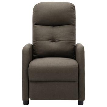 vidaXL Električna masažna fotelja od tkanine smeđe-siva