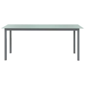 vidaXL Vrtni stol svjetlosivi 190 x 90 x 74 cm od aluminija i stakla