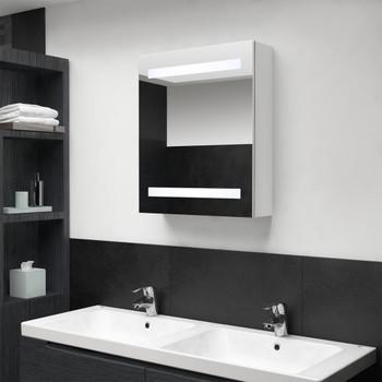 vidaXL LED kupaonski ormarić s ogledalom sjajni bijeli 50 x 14 x 60 cm