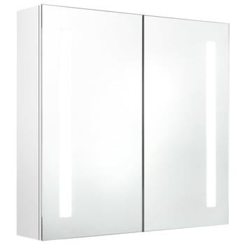 vidaXL LED kupaonski ormarić s ogledalom sjajni bijeli 62 x 14 x 60 cm