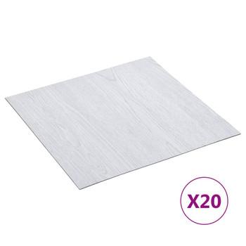 vidaXL Samoljepljive podne obloge 20 kom PVC 1,86 m² bijele