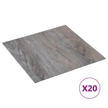 vidaXL Samoljepljive podne obloge 20 kom PVC 1,86 m² svjetlosmeđe