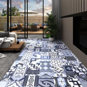 vidaXL Samoljepljive podne obloge 20 kom PVC 1,86 m² obojeni uzorak
