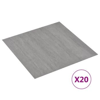 vidaXL Samoljepljive podne obloge 20 kom PVC 1,86 m² sive prošarane
