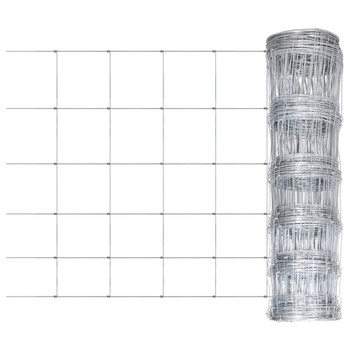 vidaXL Vrtna ograda od pocinčanog čelika srebrna 50 x 0,8 m