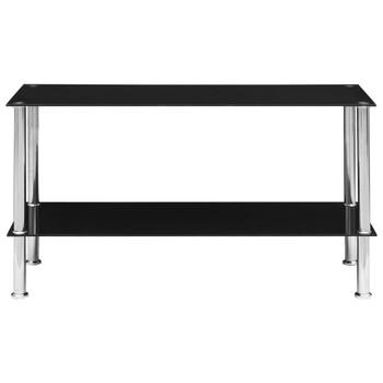 vidaXL Stolić za kavu crni 110 x 43 x 60 cm od kaljenog stakla
