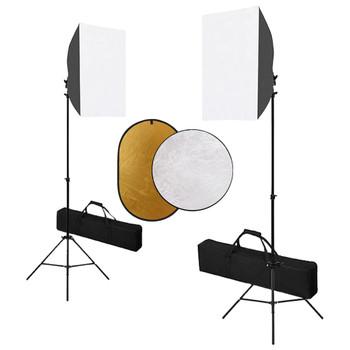 vidaXL Fotografska oprema sa svjetlima softbox i reflektorom