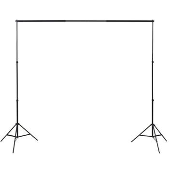 vidaXL Fotografska oprema s lampama, pozadinom i reflektorom
